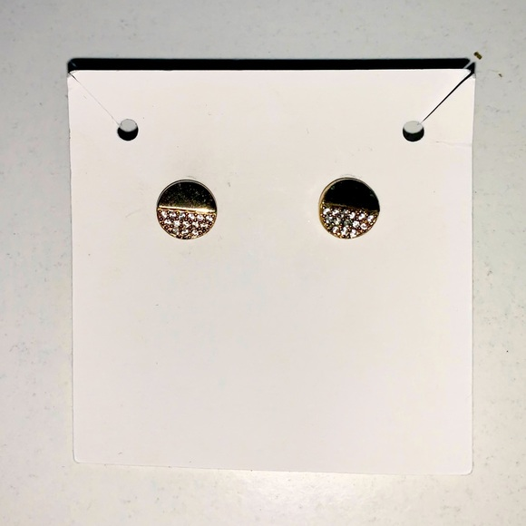 Gold accent stud earrings